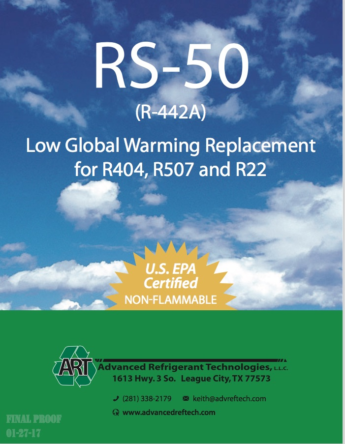 RS-50 (R442A) Low GWP & High Efficiency Drop-In Replacement